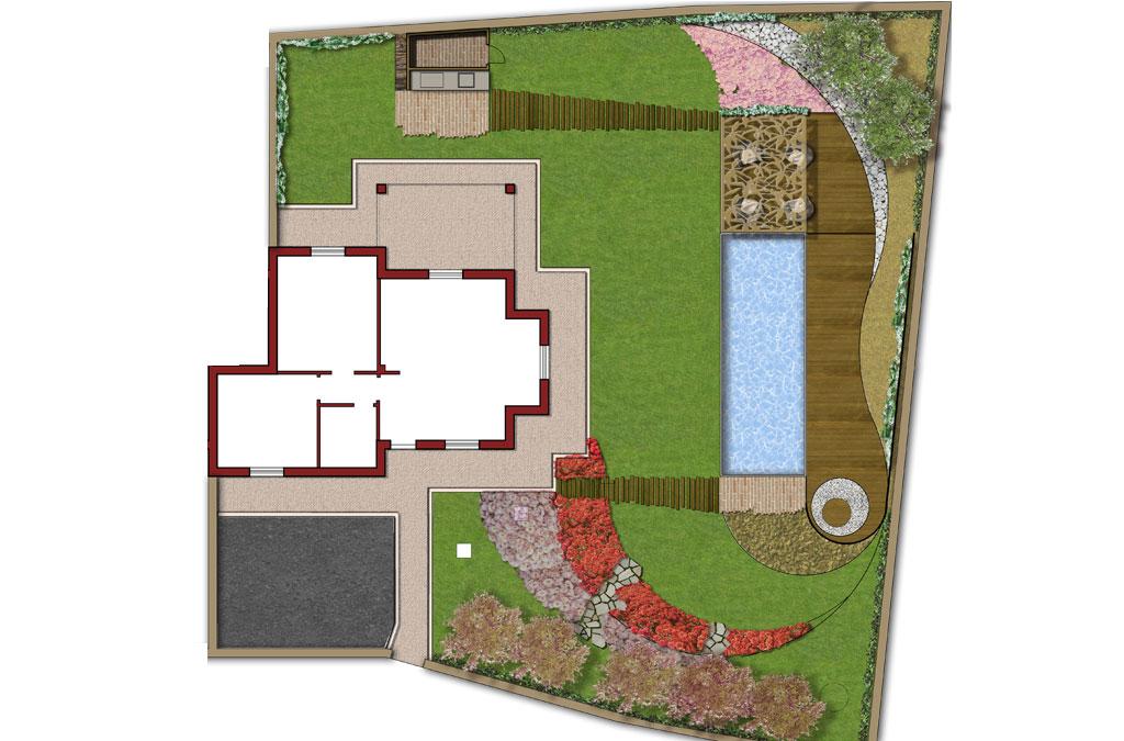 Giardino residenza privata Montopoli in Sabina