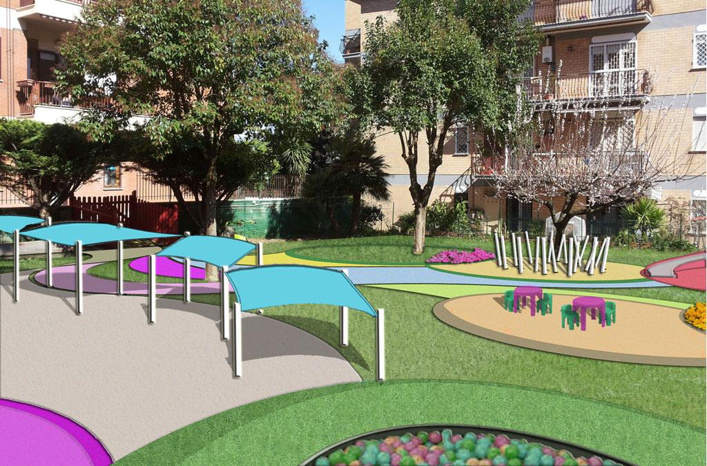 Progetto giardino asilo paola cassioli architetto - Progetto per giardino ...