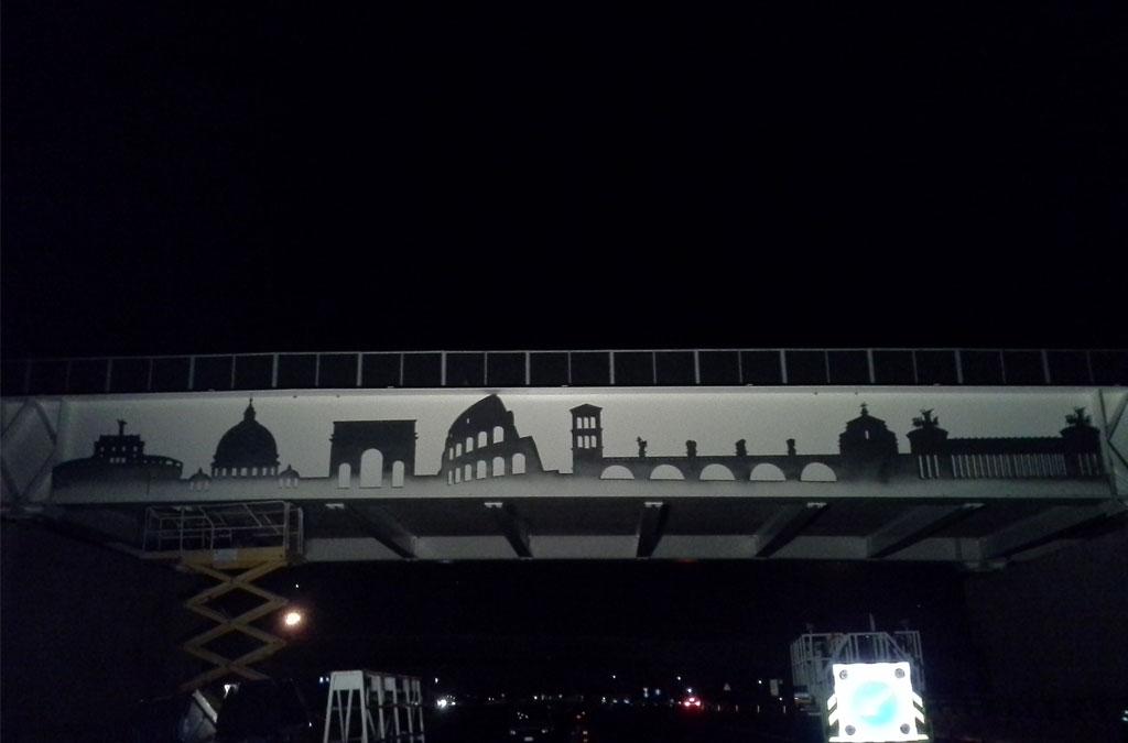 Skyline Autostrada A24 Roma 2014